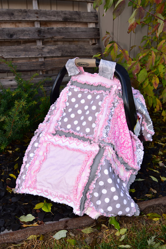 Baby Girl Car Seat Canopy