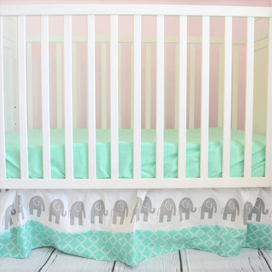 Mint Crib Sheet for Baby Nursery Crib Bedding - Crib Sheet - A Vision to Remember