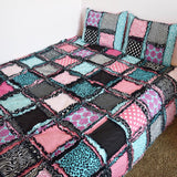 Custom Big Girl Rag Quilt - Choose Your Fabrics, Colors, & Size - Quilt - A Vision to Remember