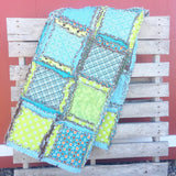 Custom Big Boy Rag Quilt - Choose Your Fabrics, Colors, & Size - Quilt - A Vision to Remember