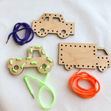 Wooden Lace Up Toys, Many Styles Available - A Vision to Remember