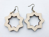Wooden Drop Earrings, Hypoallergenic - A Vision to Remember
