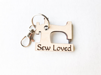 Wooden Sewing Machine Key Chains, Gifts for Seamstress - A Vision to Remember