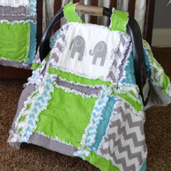 Easy Peasy Rag Quilt PATTERN, by A Vision to Remember, Includes Car Seat Canopy Instructions! Instant Download, PDF - Pattern - A Vision to Remember