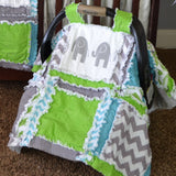 Easy Peasy Rag Quilt Car Seat Cover and Baby Blanket Pattern - A Vision to Remember