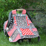 Rag Quilt PATTERN for Car Seat Tents.  Can also Double as a  Nursing cover and baby blanket, Addy Mae, INSTANT DOWNLOAD - Pattern - A Vision to Remember
