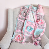 Flower Car Seat Canopy - Mint / Pink / Gray - A Vision to Remember