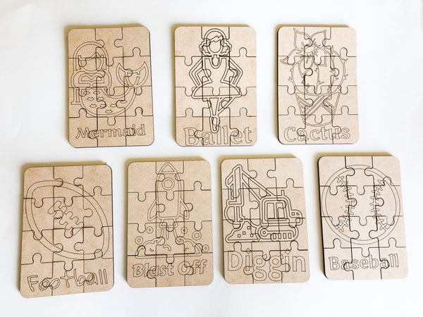 Wooden Puzzles, Perfect for Party Favor - A Vision to Remember