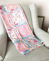 Shabby Baby Girl Rag Quilt - Crib Bedding - A Vision to Remember