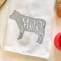 Country Cow Kitchen Towel - A Vision to Remember
