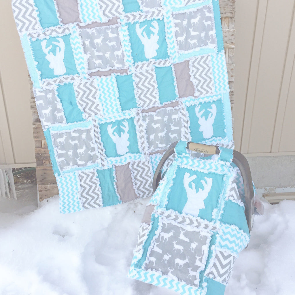 Addy Mae Rag Quilt Carseat Canopy Pattern Instant