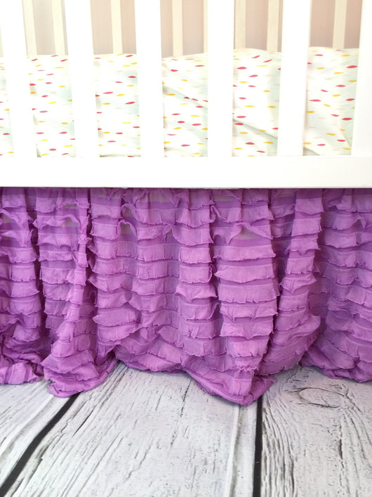 Ruffle Crib Skirt Baby Girl Bedding Nursery Decor Many Colors Availa A Vision To