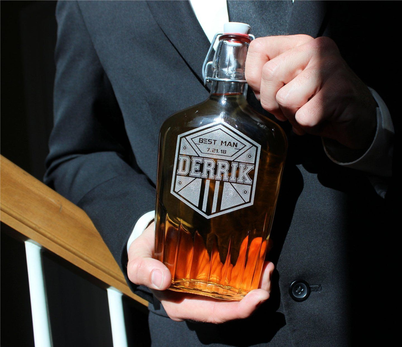 Personalized Flasks for Groomsmen - Whiskey Decanters