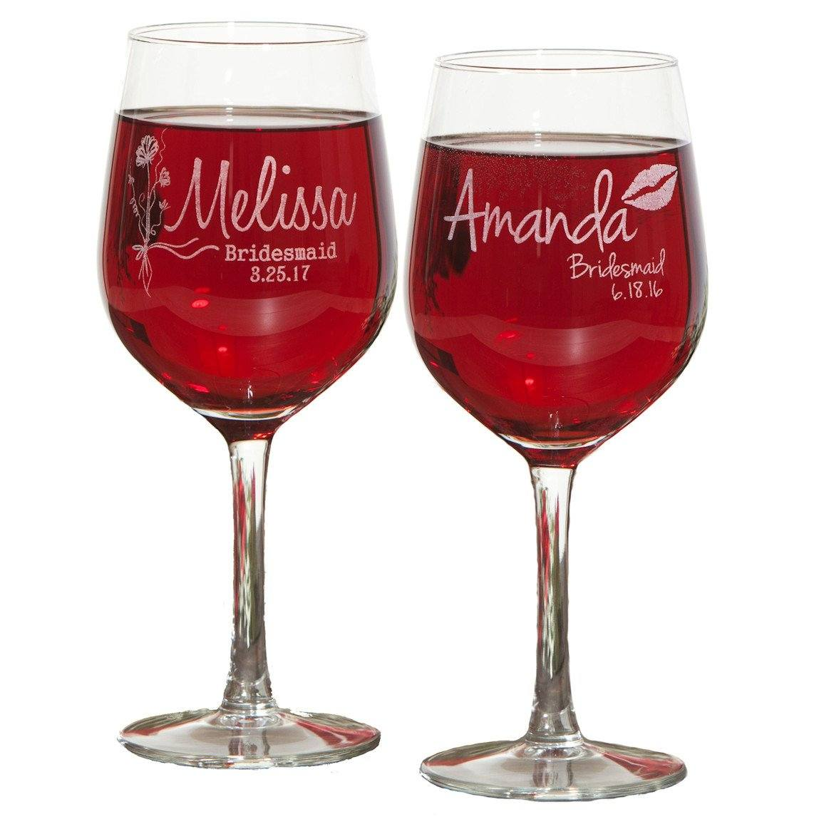 Bridesmaid Glassware