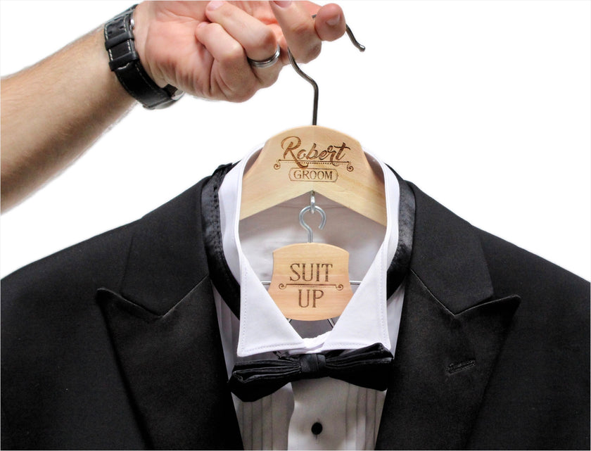 Groom hanger, Suit up hanger, Groomsmen Hangers, Wedding hangers, Hangers for men, Wedding hangers for Groomsmen, Best Man Hanger, Suit hanger for groom, Groom suit hanger, ScissorMill