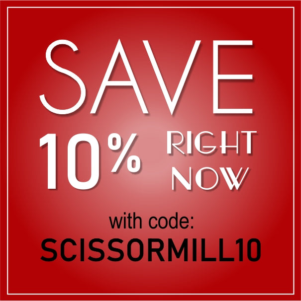 ScissorMill discount code save 10% on your order