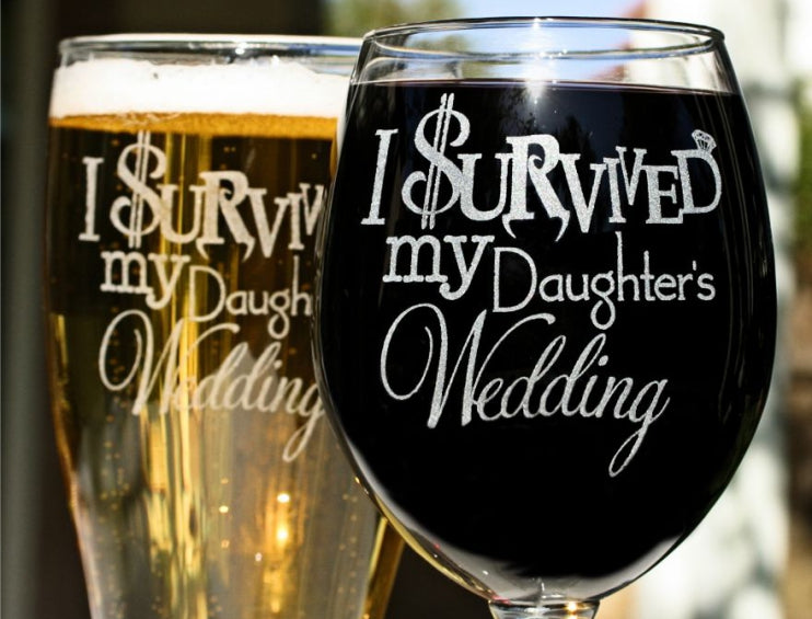 I survived my daughter's Wedding set from ScissorMill.com