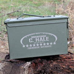 Best Man Ammo Can - Oval & Stars