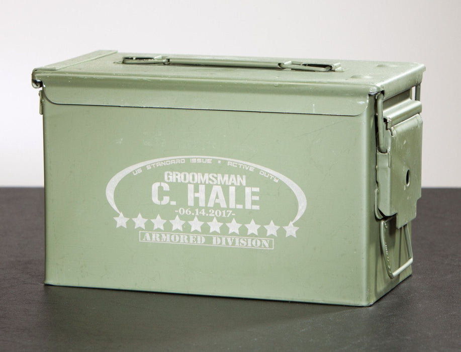 Military Ammo Can - Oval & Stars - Storage Box - ScissorMill