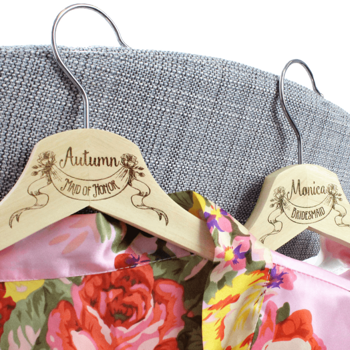 Personalized Bridesmaid Hangers - Wedding Dress Hangers - ScissorMill