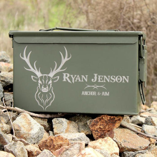 Custom Storage Can - Hunting Gift - Buck - ScissorMill