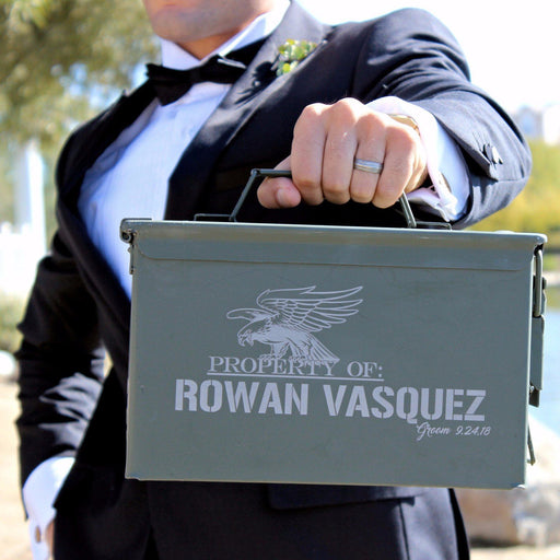 Groomsman Gift Box - Best Man Gift - Personalized Metal Gift Box - ScissorMill