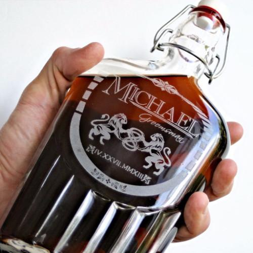 Gift for Dad Whiskey Flask - ScissorMill