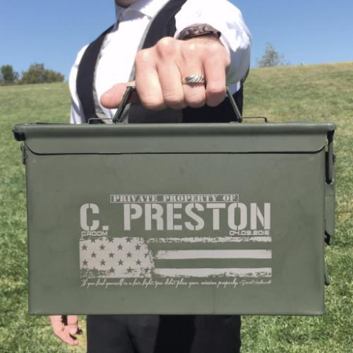 Wedding Gift From Groomsmen: Groomsmen Ammo Can, Gift For The Groom From The Bride