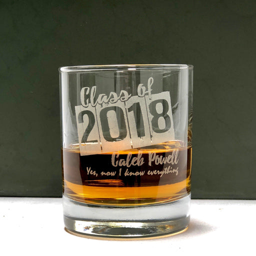 Graduation Whiskey Glass - ScissorMill
