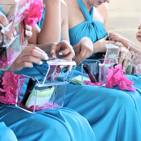 Personalized Bridesmaid Gifts, Wine Glasses & Bridesmaid Hangers ...
