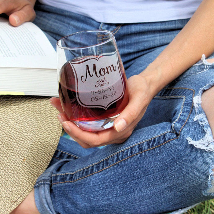 Mom Stemless Glass - ScissorMill