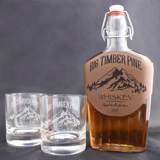 Whiskey Set - Mountain Design - ScissorMill