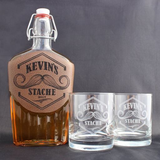 Whiskey Set - Mustache - ScissorMill