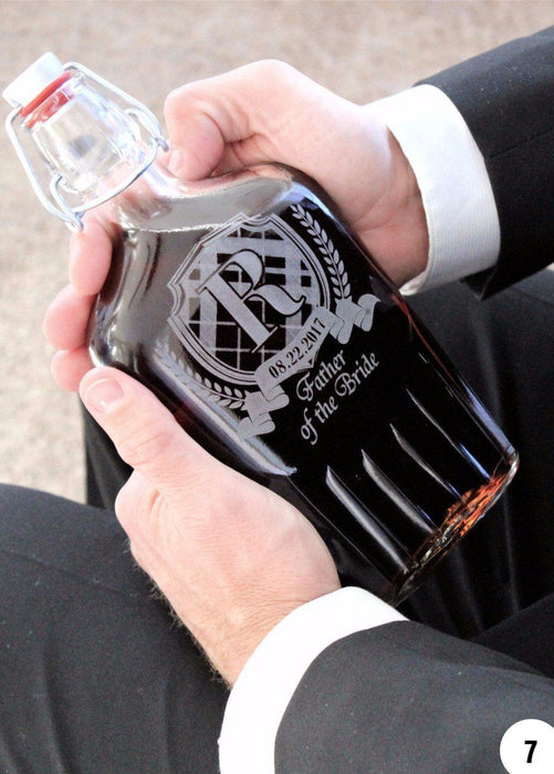 Groomsmen Flask - Good Groomsmen Gifts - Personalized Flask - ScissorMill