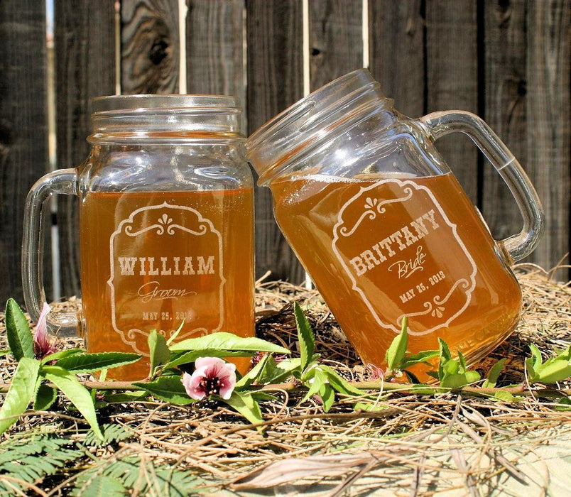 Toasting Mason Jar Set of (2) $25 - ScissorMill