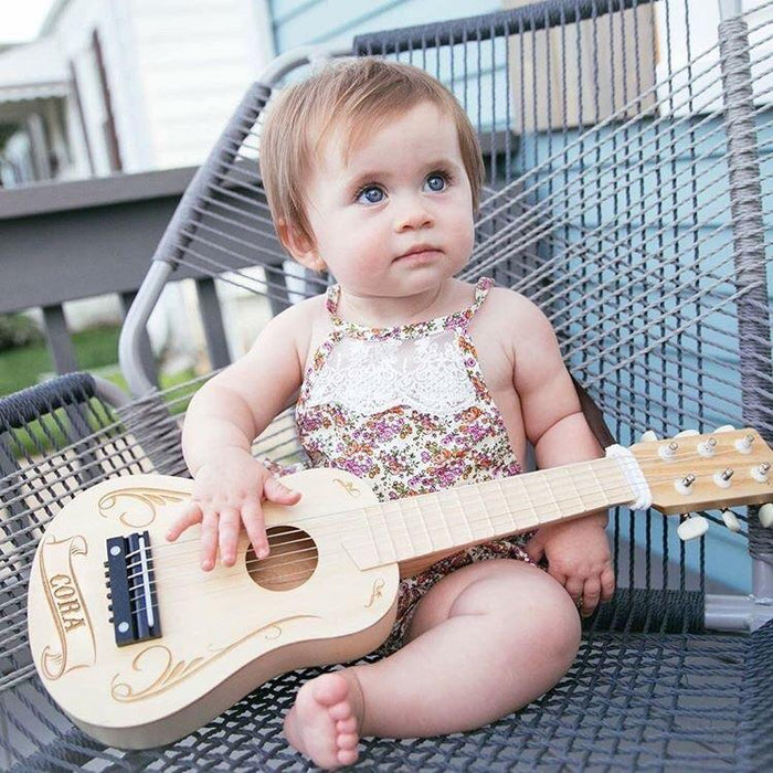 Kids Toy Guitar - Guitar for Kids - Personalized Acoustic Guitar - ScissorMill