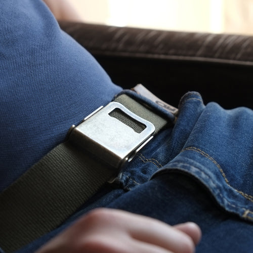 BUCKLE WITH BOTTLE OPENER BELT AND LEATHER DETAILS