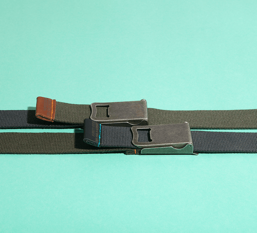 BELT WITH BOTTLE OPENER BUCKLE
