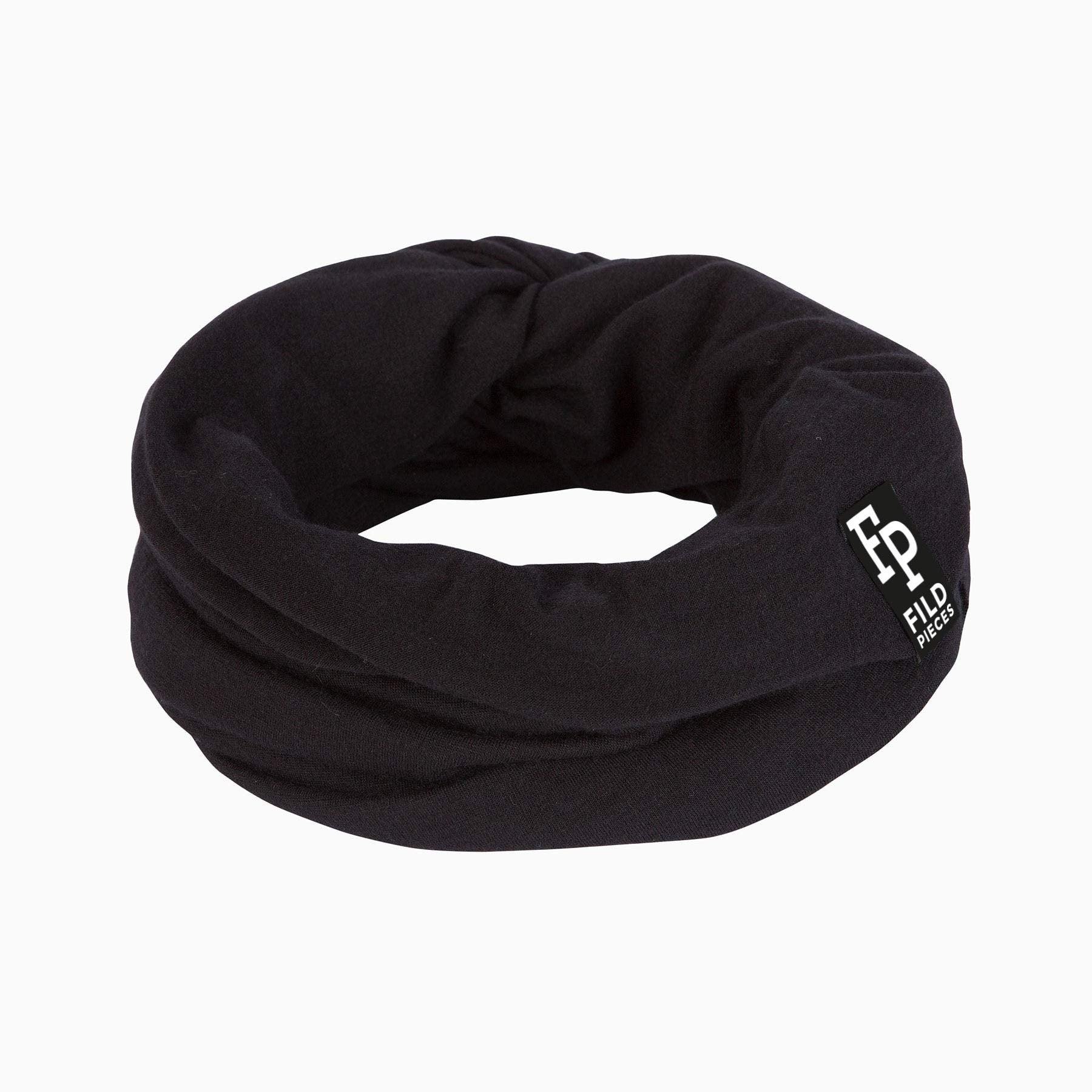 Tjorven Snood merino wool scarf black
