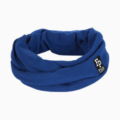 Tjorven Snood merino wool scarf blue