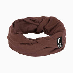 Tjorven Snood merino wool scarf brown