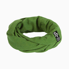 Tjorven Snood merino wool scarf green