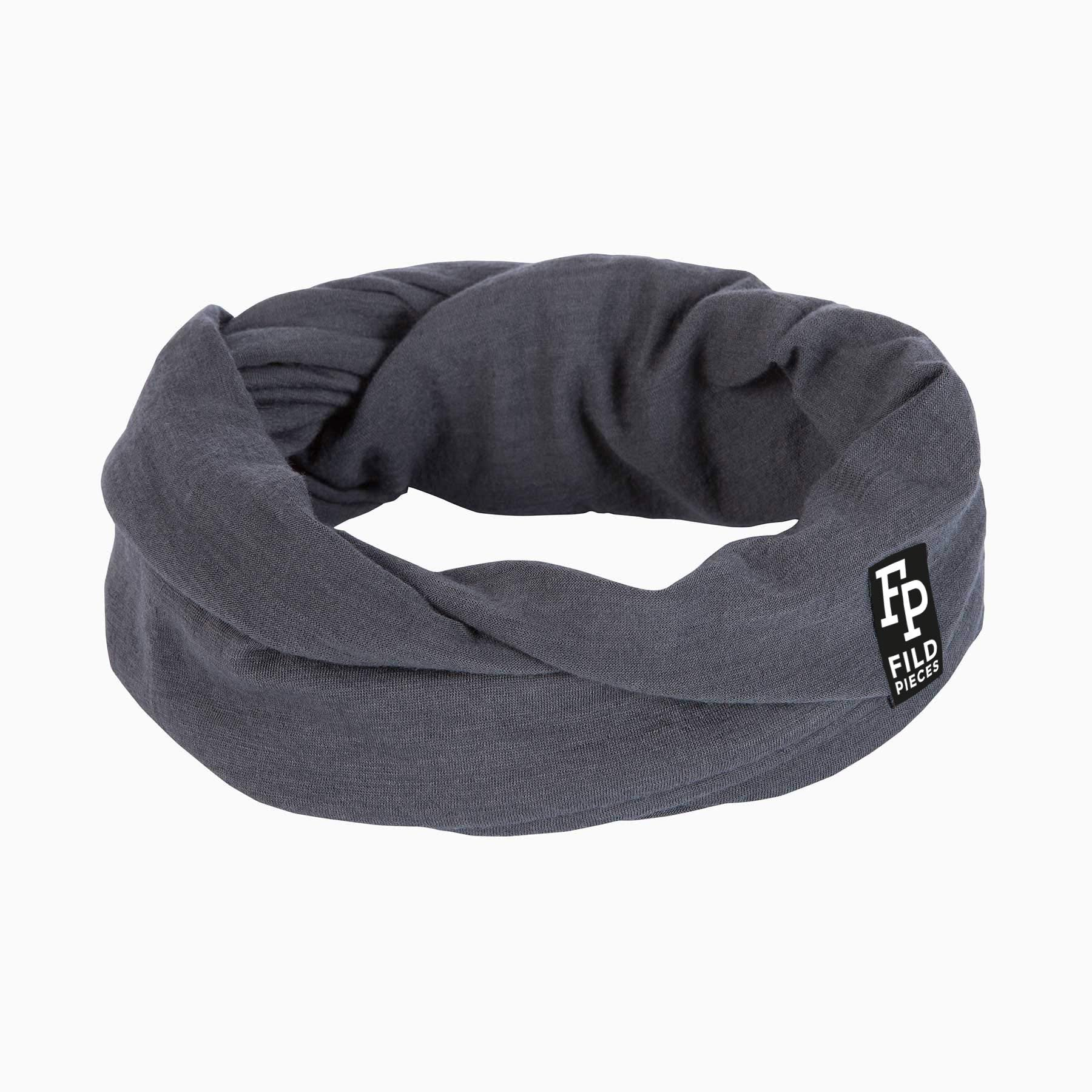 Tjorven Snood merino wool scarf grey