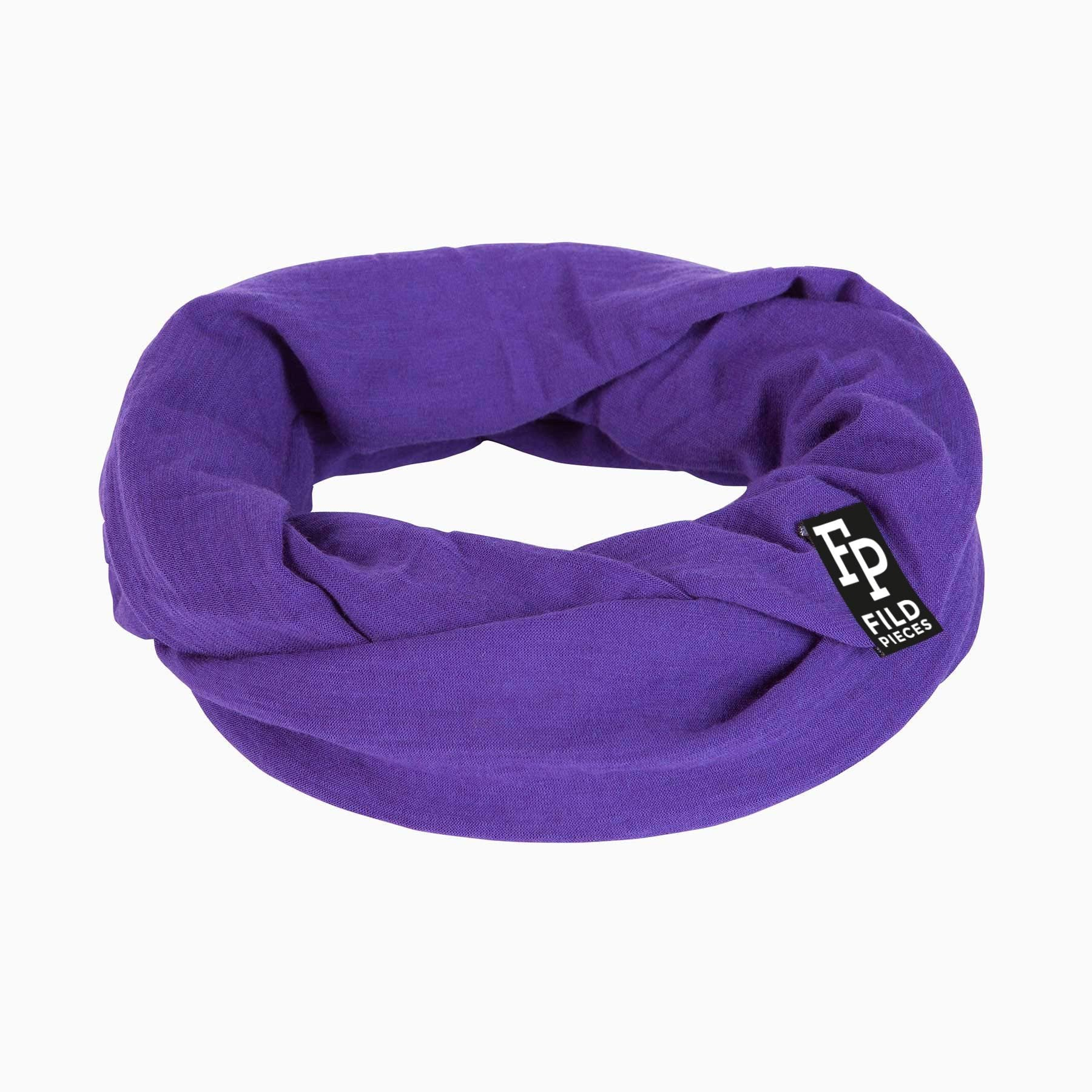 Tjorven Snood merino wool scarf purple