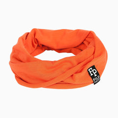 Tjorven Snood merino wool scarf orange