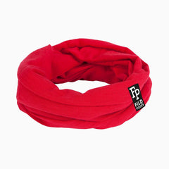 Tjorven Snood merino wool scarf red