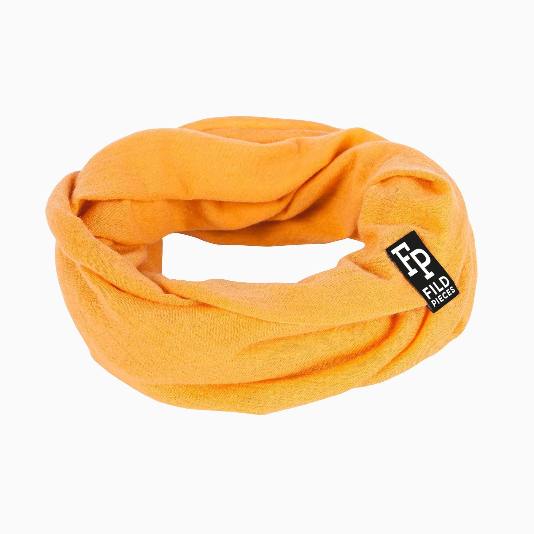Tjorven Snood merino wool scarf yellow