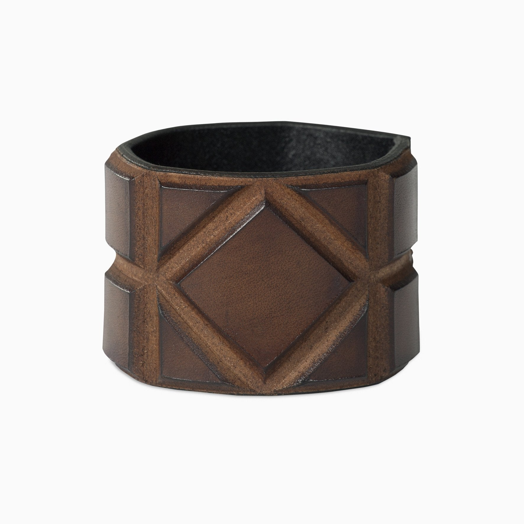 Leather bracelet in brown