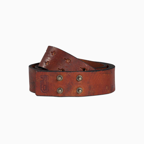 leather belt with silver studs