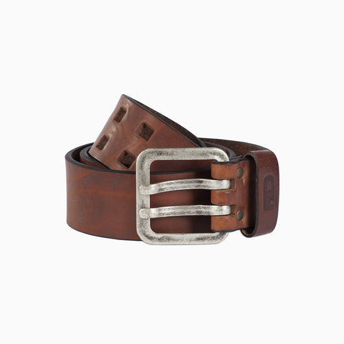 Brogan leather belt brown